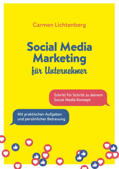"Buchcover ""Social Media Marketing für Utnernehmer"